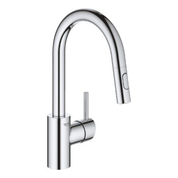 Grohe 31479001 – Single-Handle Pull Down Bar Faucet 6.6 L/min (1.75 gpm)