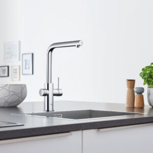 Grohe 31608002 - GROHE Blue® Single-Handle Pull-Out Kitchen Faucet with Chilled and Sparkling Water