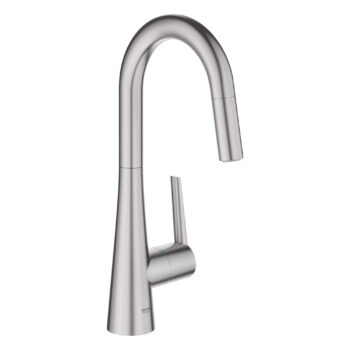 Grohe 32283DC3 – Single-Handle Pull Down Dual Spray Prep Faucet 6.6 L/min (1.75 gpm)