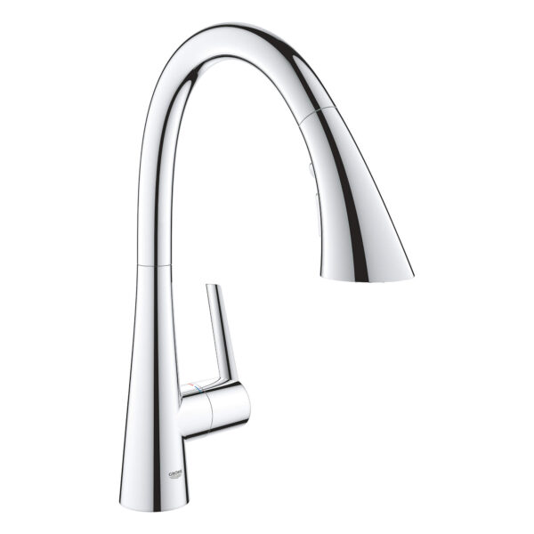 Grohe 32298003 - Single-Handle Pull Down Kitchen Faucet Triple Spray 6.6 L/min (1.75 gpm)