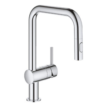 Grohe 32319003 – Single-Handle Pull Down Kitchen Faucet Dual Spray 6.6 L/min (1.75 gpm)