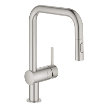 Grohe 32319DC3 – Single-Handle Pull Down Kitchen Faucet Dual Spray 6.6 L/min (1.75 gpm)