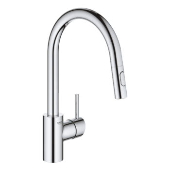 Grohe 32665003 – Single-Handle Pull Down Kitchen Faucet Dual Spray 6.6 L/min (1.75 gpm)
