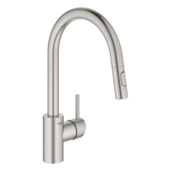 Grohe 32665DC3 – Single-Handle Pull Down Kitchen Faucet Dual Spray 6.6 L/min (1.75 gpm)