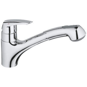 Grohe 33330001 – Single-Handle Pull-Out Kitchen Faucet Dual Spray 6.6 L/min (1.75 gpm)