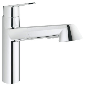Grohe 33330002 – Single-Handle Pull-Out Kitchen Faucet Dual Spray 6.6 L/min (1.75 gpm)