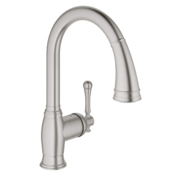 Grohe 33870DC2 – Single-Handle Pull Down Kitchen Faucet Dual Spray 6.6 L/min (1.75 gpm)