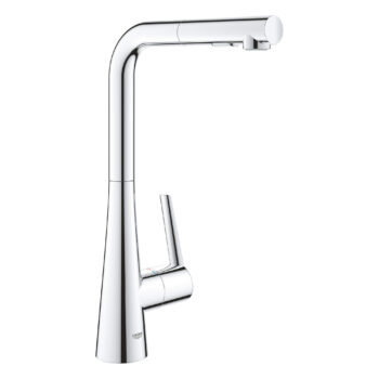 Grohe 33893002 – Single-Handle Pull-Out Kitchen Faucet Dual Spray 6.6 L/min (1.75 gpm)