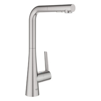 Grohe 33893DC2 – Single-Handle Pull-Out Kitchen Faucet Dual Spray 6.6 L/min (1.75 gpm)