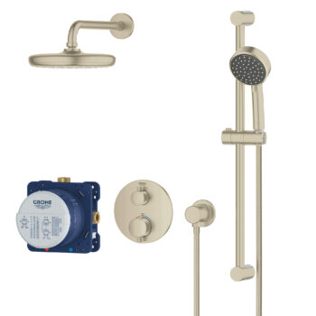 Grohe 34745EN0 – Round Thermostatic Shower Kit, 27 L/min (7.1 gpm)