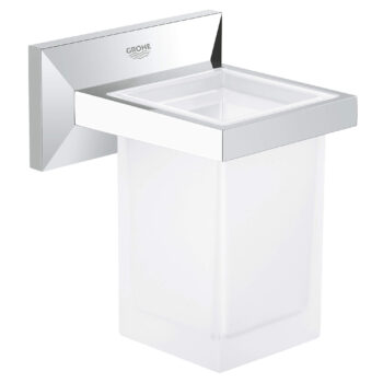 Grohe 40493000 – Toothbrush Holder with Tumbler