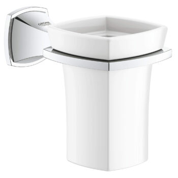 Grohe 40626000 – Ceramic Tumbler with Holder