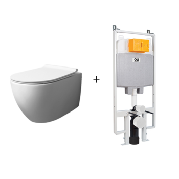 VI18C-WG – Rimless Wall Hung Toilet with In Wall Toilet Carrier