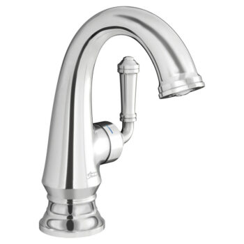 American Standard 7052124.002 – Delancey Bathroom Faucet with Side Handle and Red and Blue Indicators