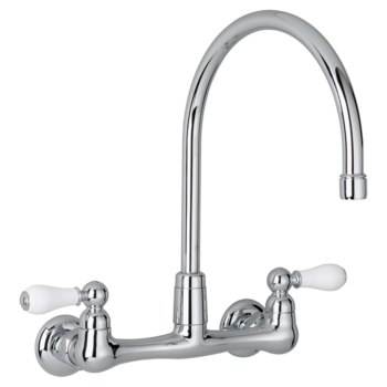 American Standard 7293252.002 – Heritage 2-Handle High-Arc Wall-Mount Kitchen Faucet