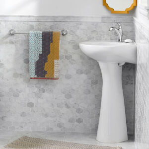 American Standard 0611001.020 - Cornice Pedestal Top/Wall Hung Corner Sink
