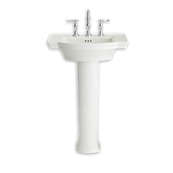 American Standard 0900004.222 - Estate Pedestal Sink Top - 4-inch Centers