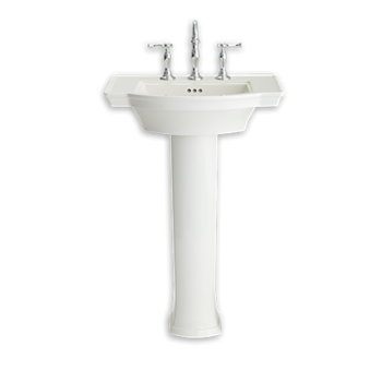 American Standard 0900400.020 – Estate Pedestal + Sink Top Combo 4′ White
