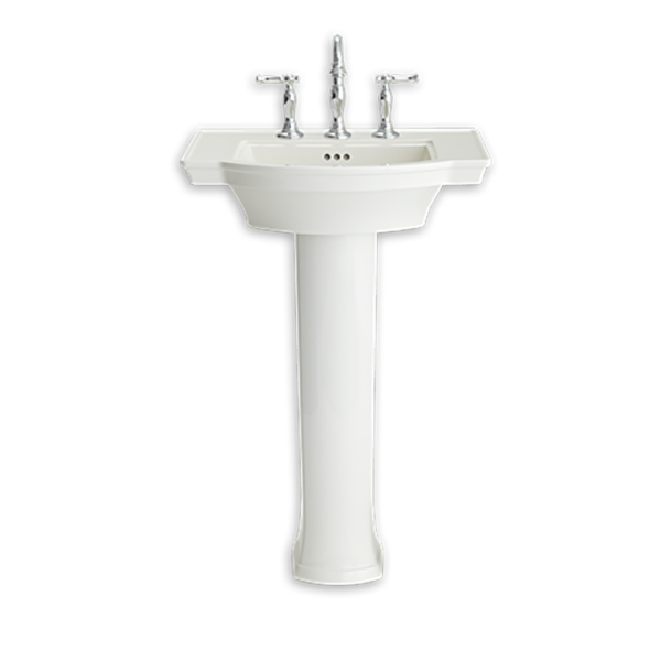 American Standard 0900400.222 - Estate Pedestal Sink & Leg Combo 4' Centers