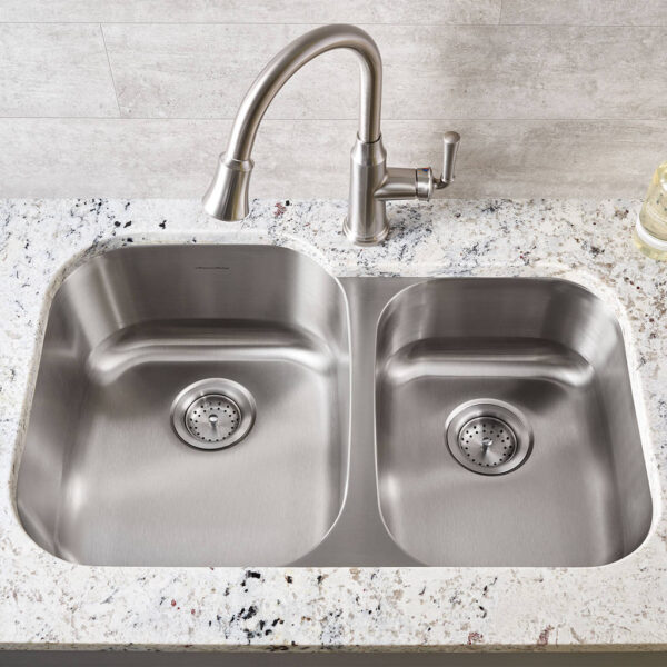 American Standard 18CR.9322100S.075 - Portsmouth 31x20-inch Offset Double Bowl Stainless Steel Kitchen Sink