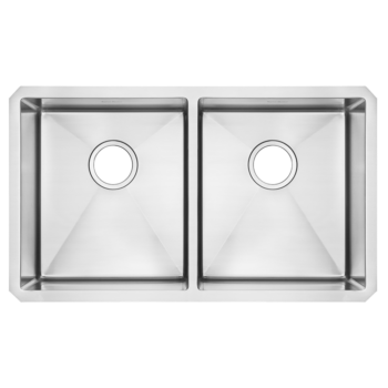 American Standard 18DB.9291800.075 – Pekoe 29×18 inch Double Bowl Stainless Steel Kitchen Sink
