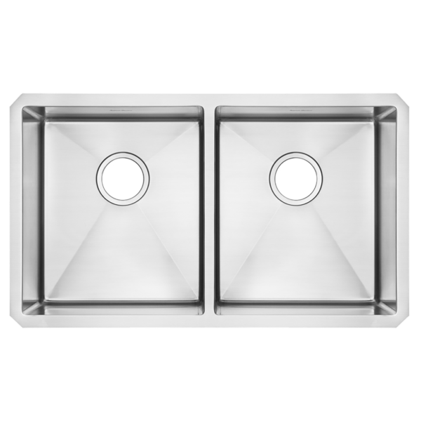 American Standard 18DB.9291800.075 - Pekoe 29x18 inch Double Bowl Stainless Steel Kitchen Sink