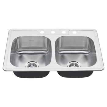 American Standard 20DB.8312083S.075 – Colony 31×20 Top-Mount Double Bowl Kitchen Sink