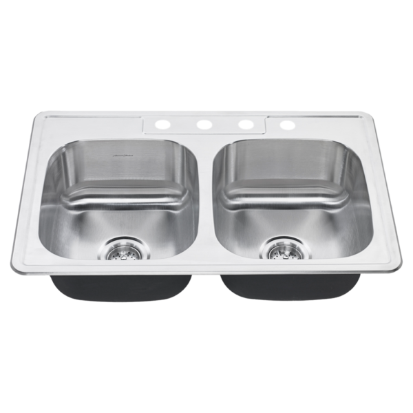 American Standard 20DB.8312083S.075 - Colony 31x20 Top-Mount Double Bowl Kitchen Sink