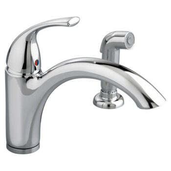 American Standard 4433001.002 – Quince 1-Handle Kitchen Faucet with Side Spray