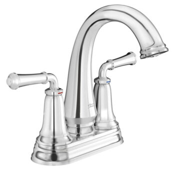 American Standard 7052214.002 – Delancey Centerset Faucet with Red and Blue Indicators