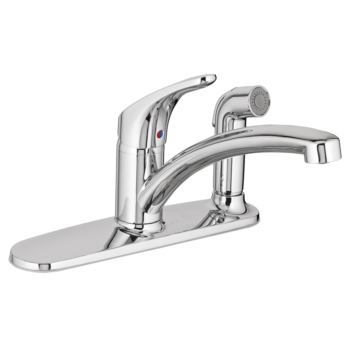American Standard 7074030.002 – Colony PRO Single-Handle Kitchen Faucet with Integrated Side Spray