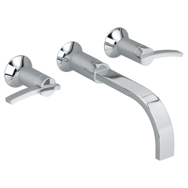 American Standard 7431451.002 - Boulevard Wall-Mounted Widespread Bathroom Faucet with Lever Handles