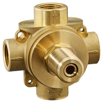 American Standard R433S – 3-Way In-Wall Diverter Valve Body (Shared Functions)