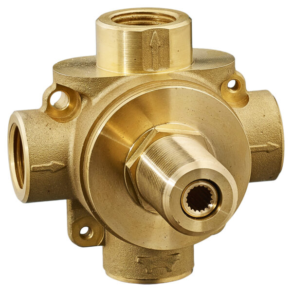 American Standard R433S - 3-Way In-Wall Diverter Valve Body (Shared Functions)