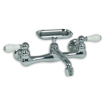 American Standard 7295252.002 – Heritage 2-Handle Wall-Mount Kitchen Faucet with Soap Dish