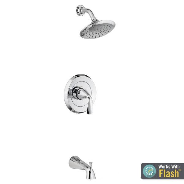 American Standard TU186508.002 - Fluent Tub and Shower Trim Kit with Water-Saving Shower Head and Cartridge