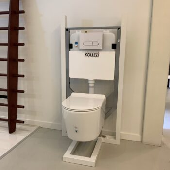 KOLLEZI- O VOGE WM ELONGATED TOILET + KOLLEZZI WALL CARRIER