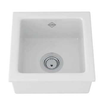 SHAWS 15″ LANCASTER SINGLE BOWL FIRECLAY BAR/FOOD PREP KITCHEN SINK