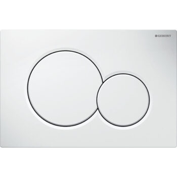 Geberit actuator plate Sigma01 for dual flush: white alpine
