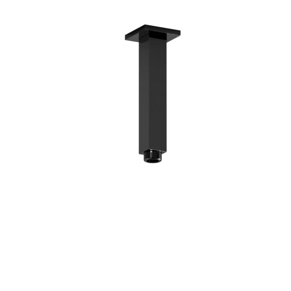 "Riobel 548BK - 15 cm (6"") vertical square shower arm"