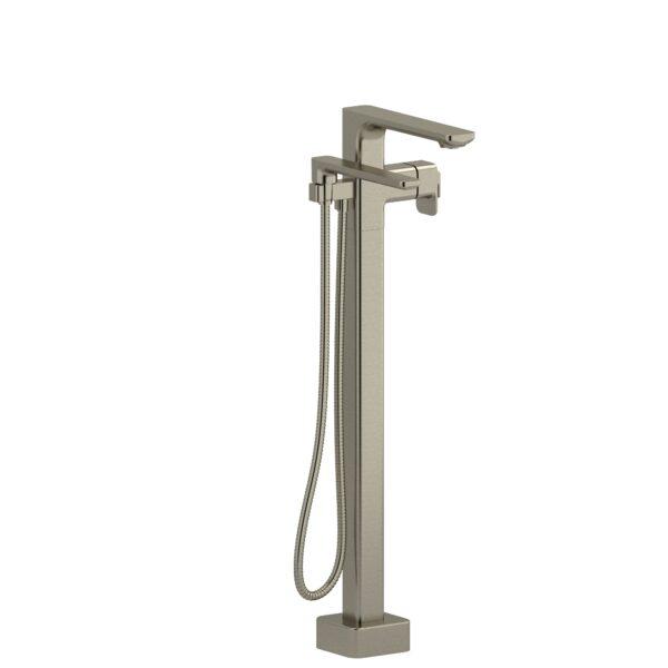 Riobel EQ39BN-EX - 2-way Type T  floor-mount tub filler with hand shower