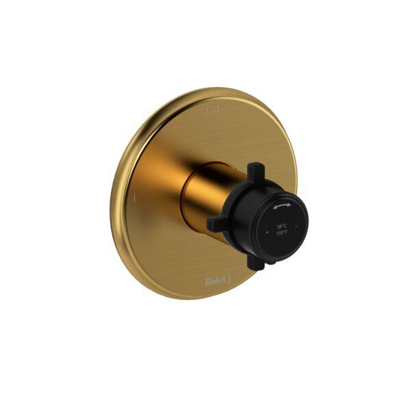 Riobel MMRD23+BGBK-EX - 2-way Type T/P coaxial complete valve