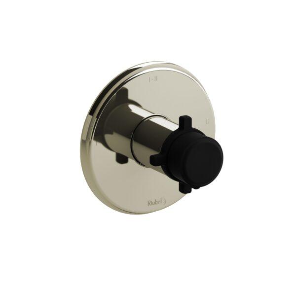 Riobel MMRD23+PNBK - 2-way Type T/P coaxial complete valve