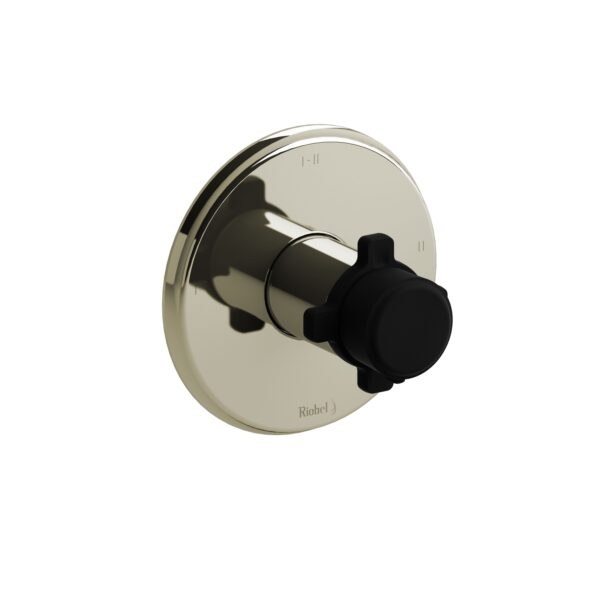 Riobel MMRD23XPNBK - 2-way Type T/P coaxial complete valve