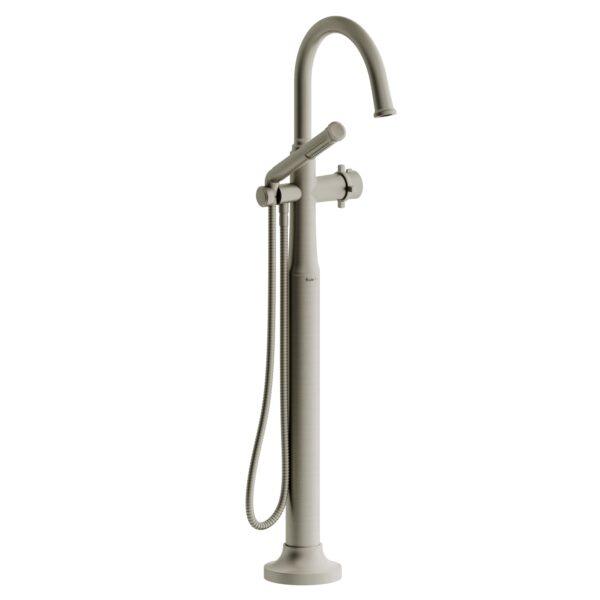 Riobel MMRD39+BN - 2-way Type T  floor-mount tub filler with hand shower