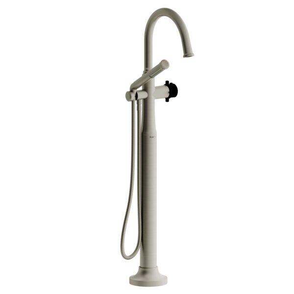 Riobel MMRD39+BNBK-EX - 2-way Type T  floor-mount tub filler with hand shower