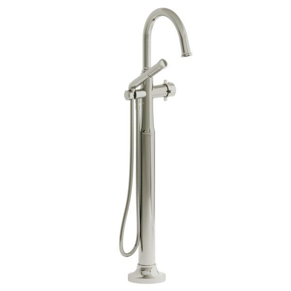 Riobel MMRD39+PN - 2-way Type T  floor-mount tub filler with hand shower