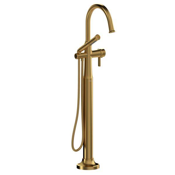 Riobel MMRD39JBG-EX - 2-way Type T  floor-mount tub filler with hand shower