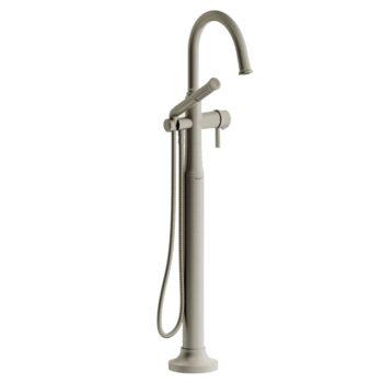 Riobel MMRD39JBN-EX – 2-way Type T  floor-mount tub filler with hand shower
