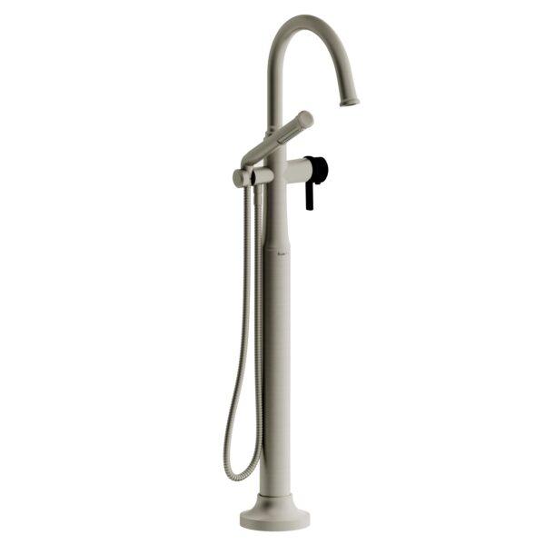 Riobel MMRD39JBNBK-EX - 2-way Type T  floor-mount tub filler with hand shower